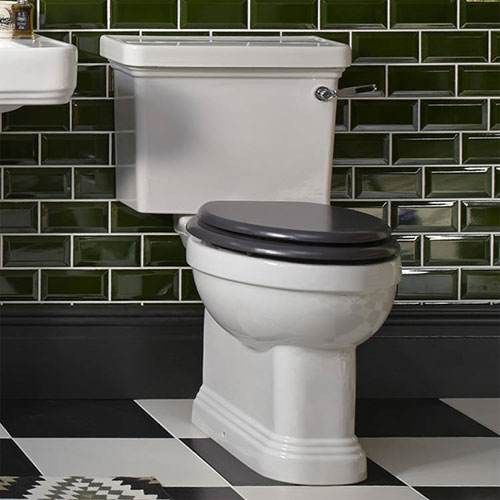 Heritage Wynwood Close Coupled Comfort Height WC & Cistern - Various Lever Options Feature Large Image