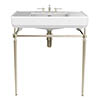Heritage Abingdon 800mm Large Wynwood Basin & Washstand - Vintage Gold profile small image view 1