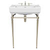 Heritage Abingdon 600mm Wynwood Basin & Washstand - Vintage Gold profile small image view 1