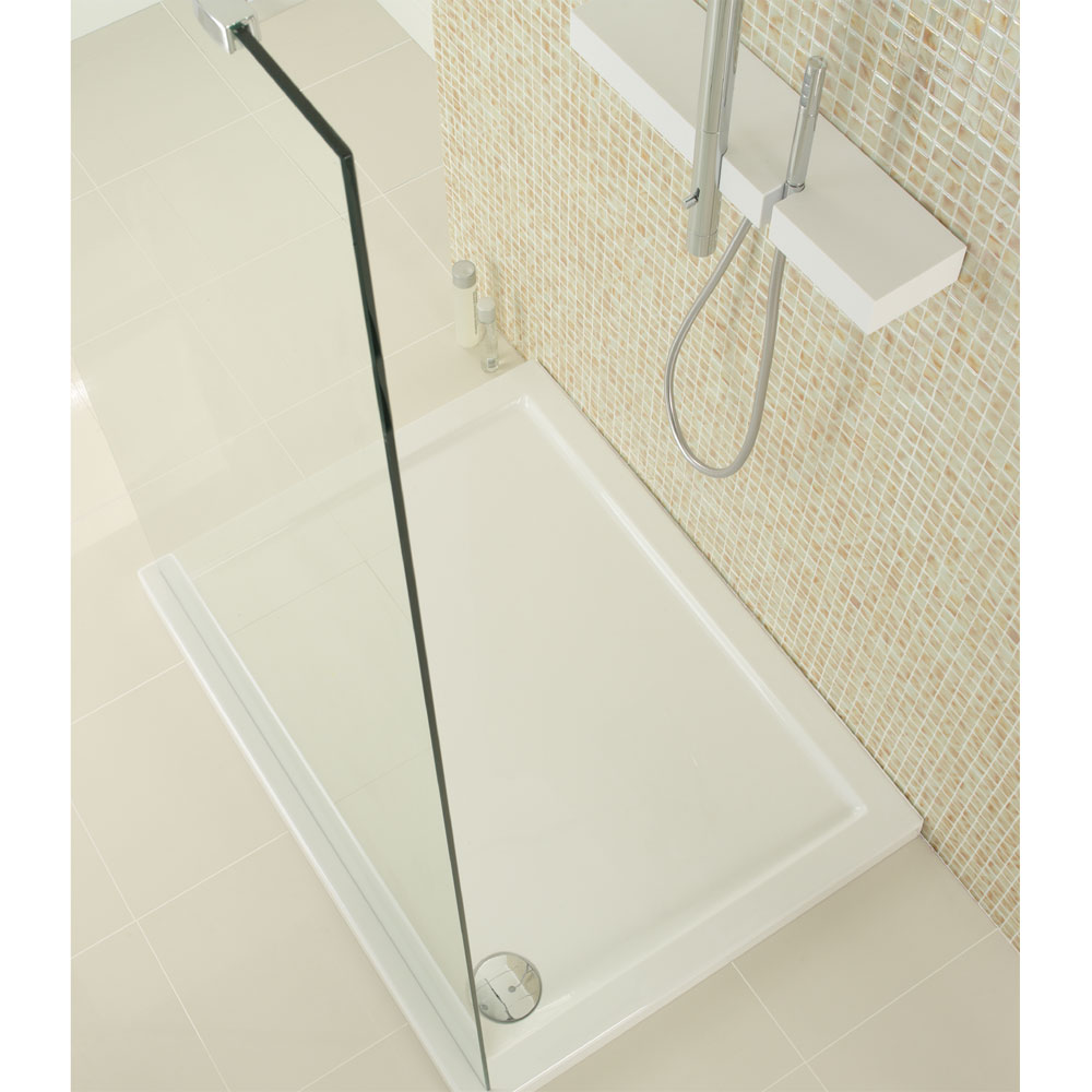 Simpsons - Walk In Low Profile Acrylic Shower Tray with Waste - 2 Size Options profile large image view 2