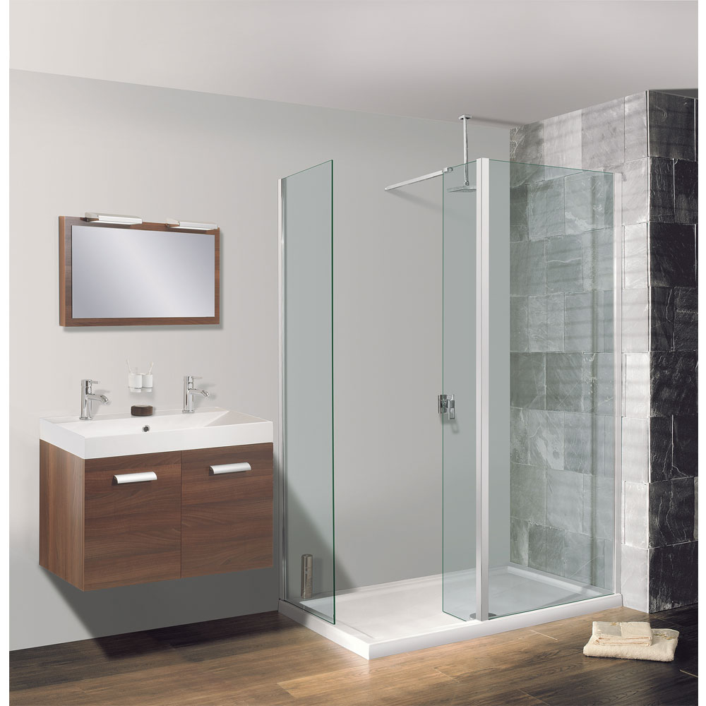 Simpsons - Walk In Low Profile Acrylic Shower Tray with Waste - 2 Size Options profile large image view 3