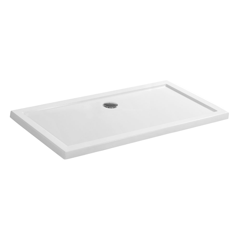 Simpsons - Walk In Low Profile Acrylic Shower Tray with Waste - 2 Size Options Large Image