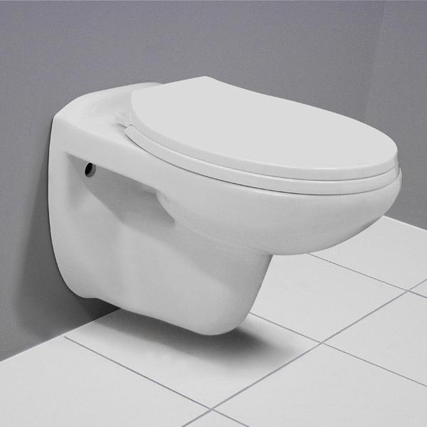 Wall Hung Toilet with Dual Flush Concealed WC Cistern & Wall Hung Frame profile large image view 3