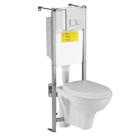 Wall Hung Toilet With Dual Flush Concealed Wc Cistern
