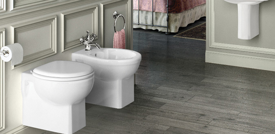 Burlington close coupled toilet and bidet