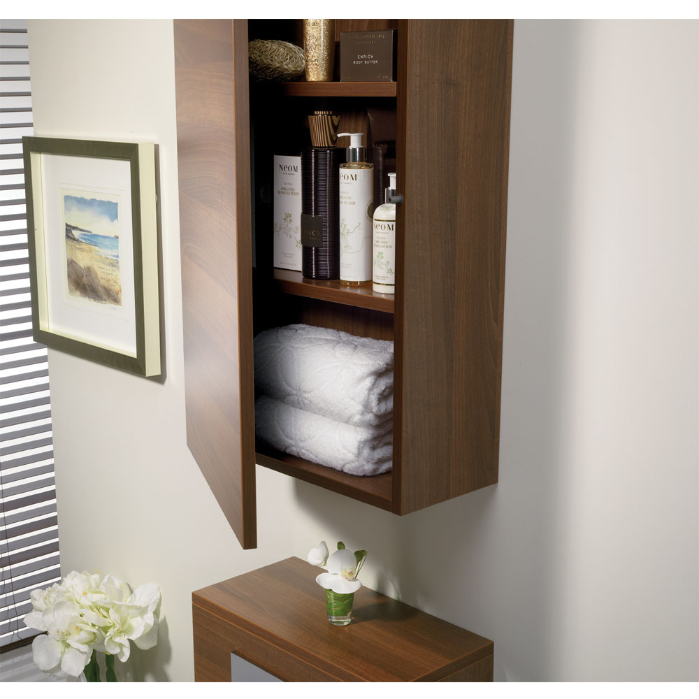 Bauhaus - Wall Hung Furniture Storage Unit - Walnut - SP5483WT Feature Large Image