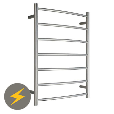 Warmup Electric Curved Heated Towel Rail - 600 x 800mm
