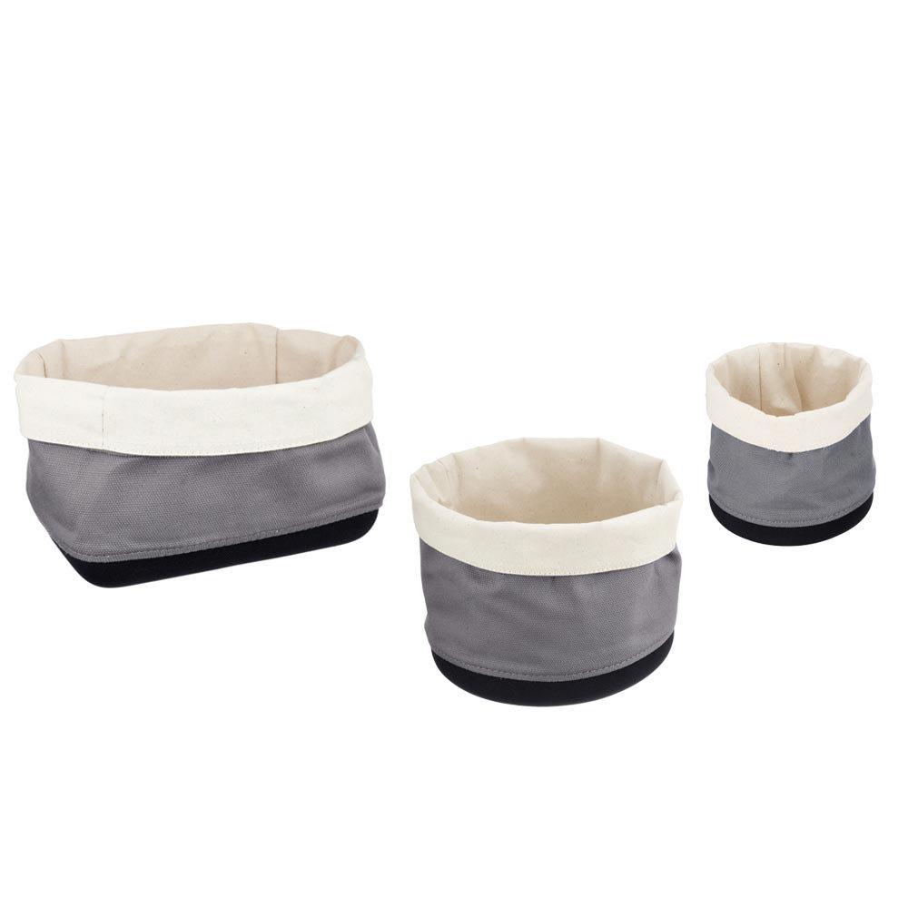Wenko 3-Piece Soraya Bathroom Storage Basket Set Large Image