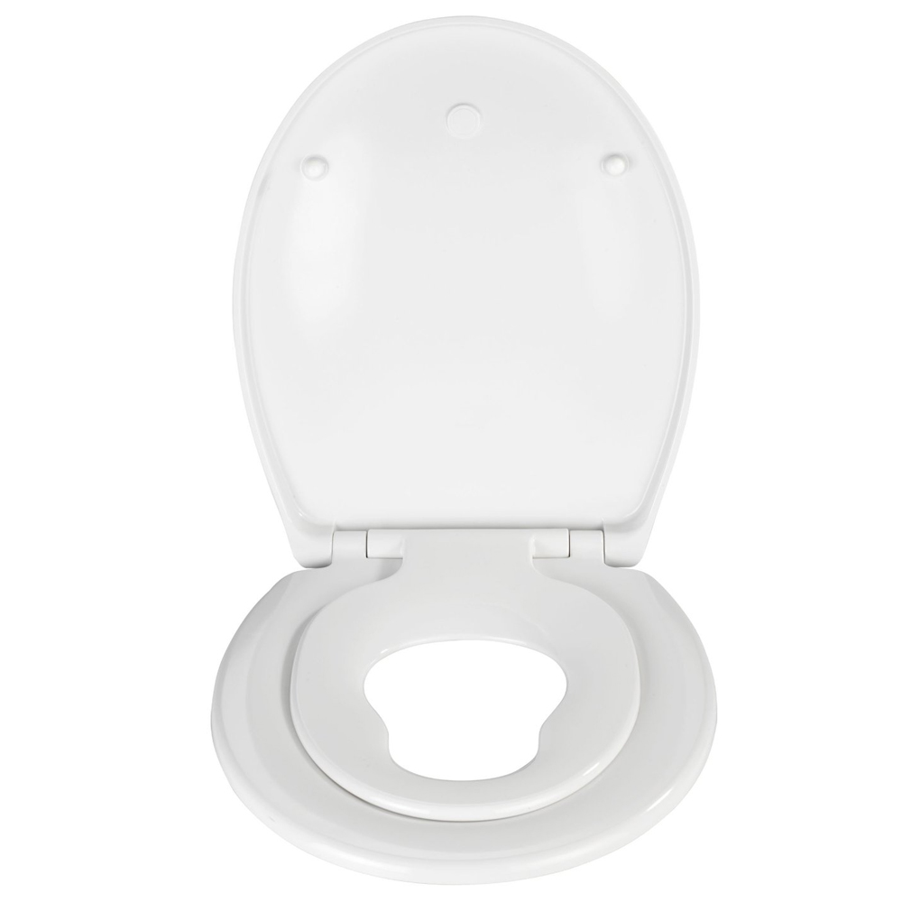 Wenko Bambino 2in1 Soft-Close Family Toilet Seat - 21906100 profile large image view 2