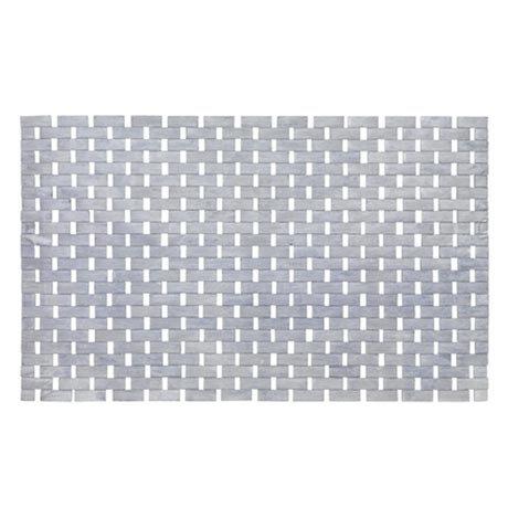 Wenko Bamboo 50 x 80cm Bath Mat - Grey - 22107100