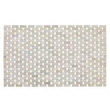 Wenko Bamboo 50 x 80cm Bath Mat - White - 22106100 Medium Image