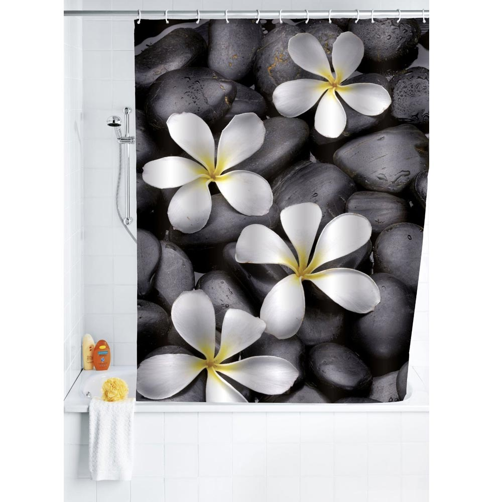 Wenko Bloom Polyester Shower Curtain - W1800 x H2000mm - 20962100 Large Image