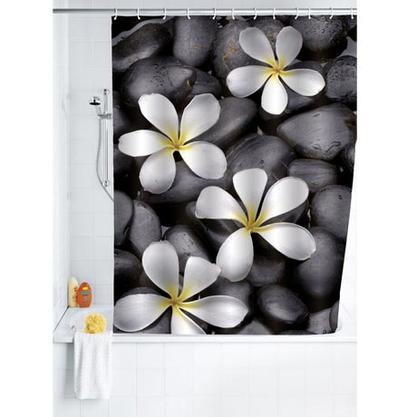 Wenko Bloom Polyester Shower Curtain - W1800 x H2000mm - 20962100