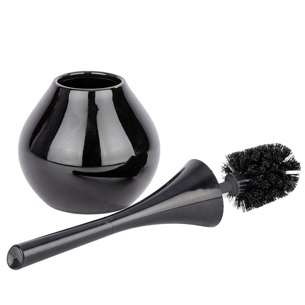 Wenko Bottle Black Toilet Brush - 22038100 Profile Large Image