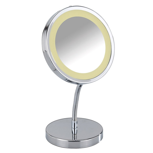 Wenko - Brolo LED Standing Mirror - Chrome - 3656360100 Large Image