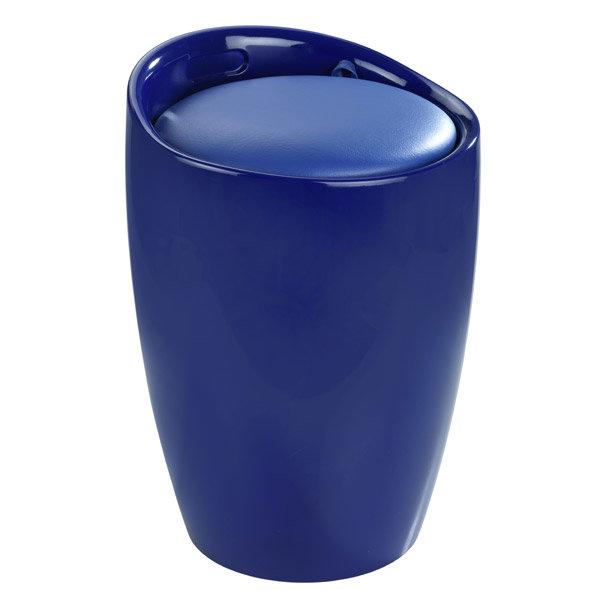 Wenko - Candy Laundry Bin & Bath Stool - Blue - 20628100 Large Image