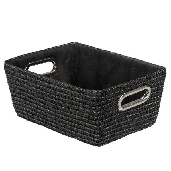Wenko - Chromo Rectangular Bathroom Storage Basket - Black - 20375100 Large Image