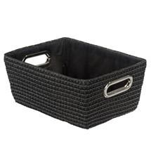 Wenko - Chromo Rectangular Bathroom Storage Basket - Black - 20375100 Medium Image