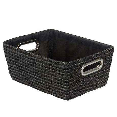 Wenko - Chromo Rectangular Bathroom Storage Basket - Black - 20375100