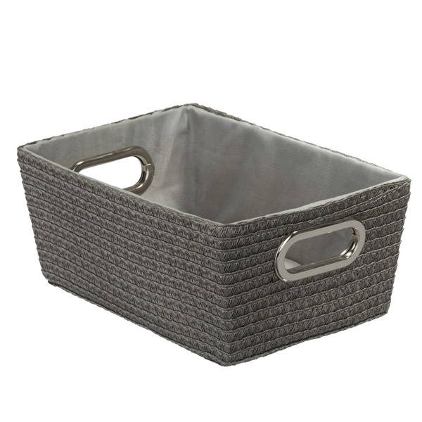 Wenko - Chromo Rectangular Bathroom Storage Basket - Grey - 20374100 Large Image
