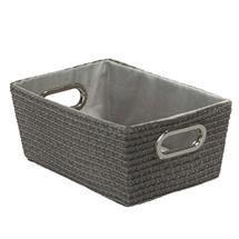 Wenko - Chromo Rectangular Bathroom Storage Basket - Grey - 20374100 Medium Image