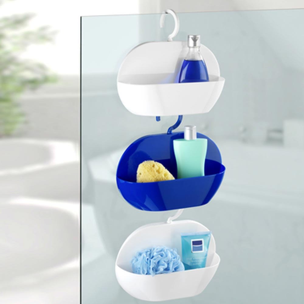Wenko Cocktail Shower Caddy - Blue - 22136100 profile large image view 4
