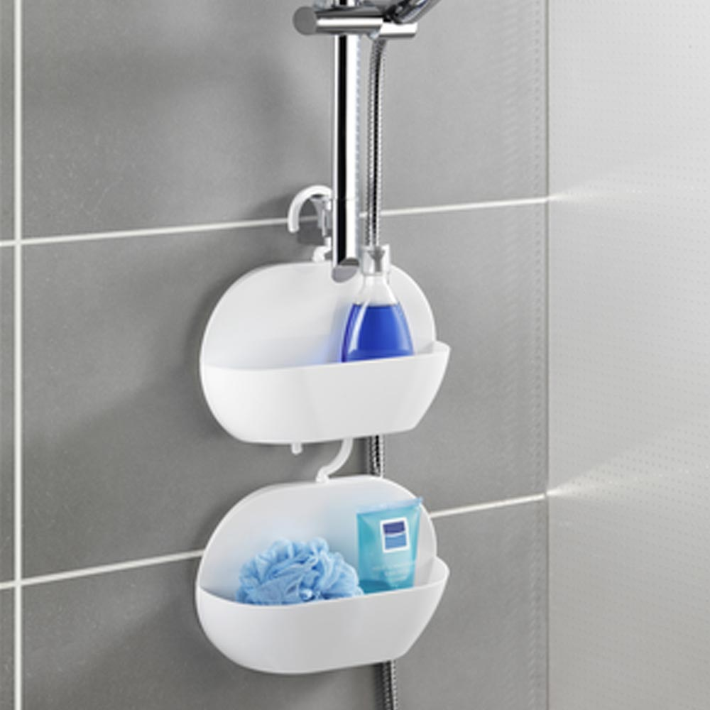 Wenko Cocktail Shower Caddy - White - 22135100 profile large image view 3