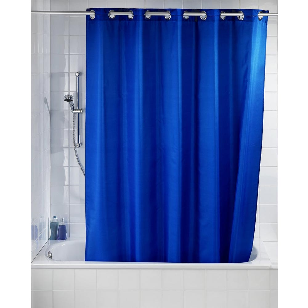 Wenko Comfort Flex Blue Polyester Shower Curtain - W1800 x H2000mm Profile Large Image