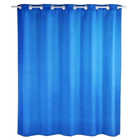 Wenko Comfort Flex Blue Polyester Shower Curtain - W1800 x H2000mm