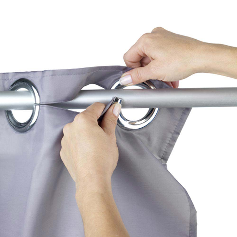 Wenko Comfort Flex Grey Polyester Shower Curtain - W1800 x H2000mm  Profile Large Image