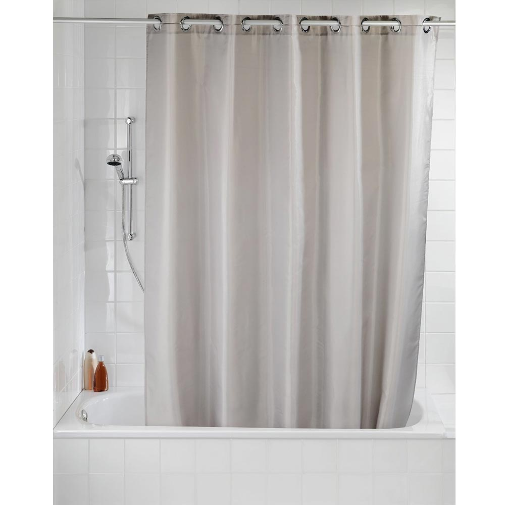 Wenko Comfort Flex Taupe Polyester Shower Curtain - W1800 x H2000mm profile large image view 2