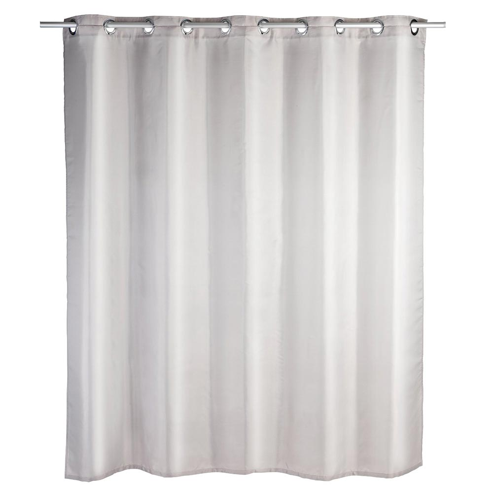 Wenko Comfort Flex Taupe Polyester Shower Curtain - W1800 x H2000mm Large Image