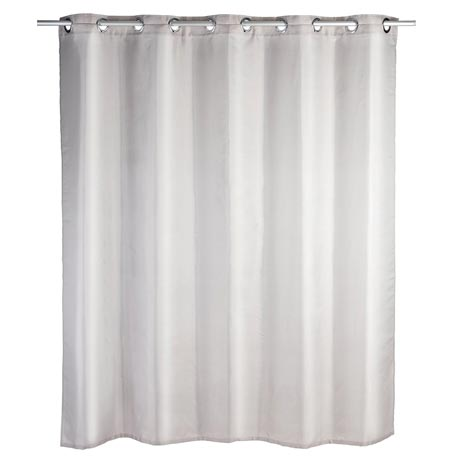 Wenko Comfort Flex Taupe Polyester Shower Curtain - W1800 x H2000mm