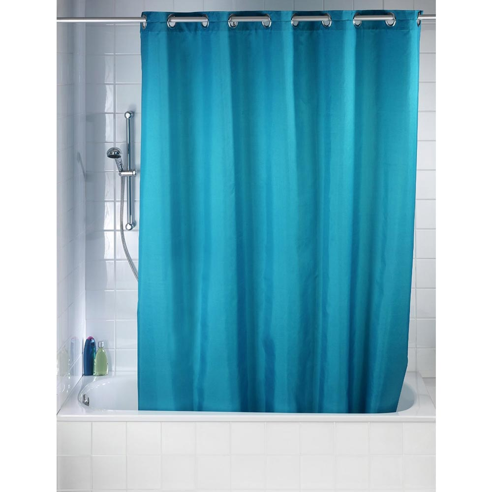 Wenko Comfort Flex Turquoise Polyester Shower Curtain W1800 x H2000mm Profile Large Image