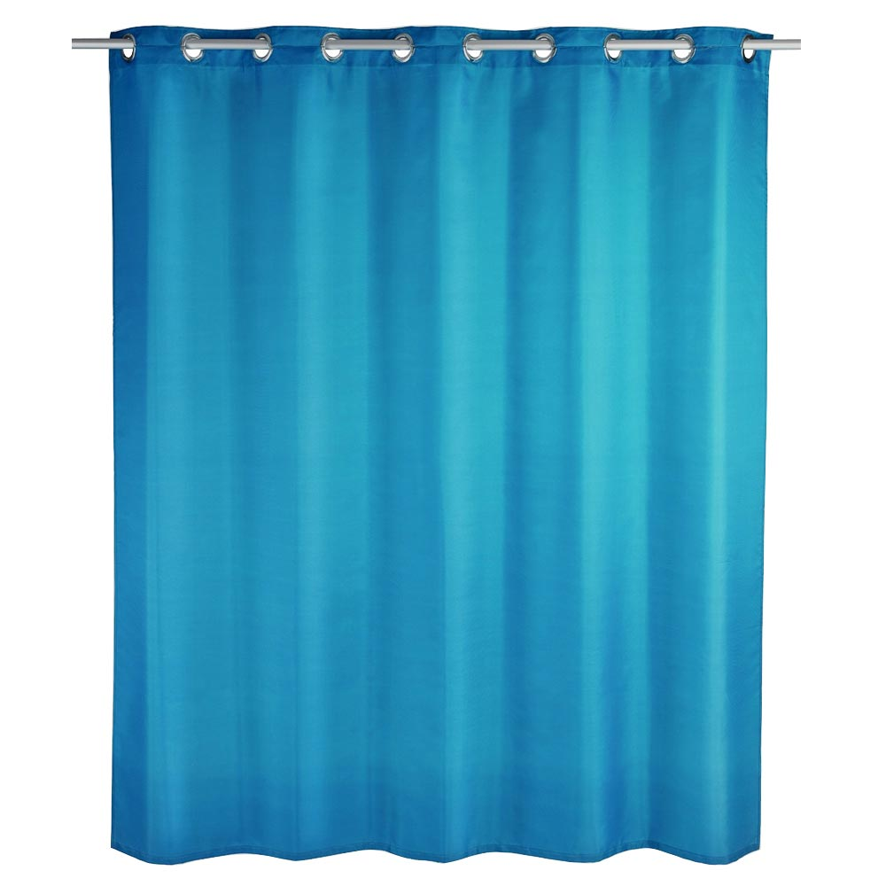 Wenko Comfort Flex Turquoise Polyester Shower Curtain W1800 x H2000mm Large Image
