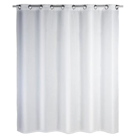 Wenko Comfort Flex White Polyester Shower Curtain - W1800 x H2000mm