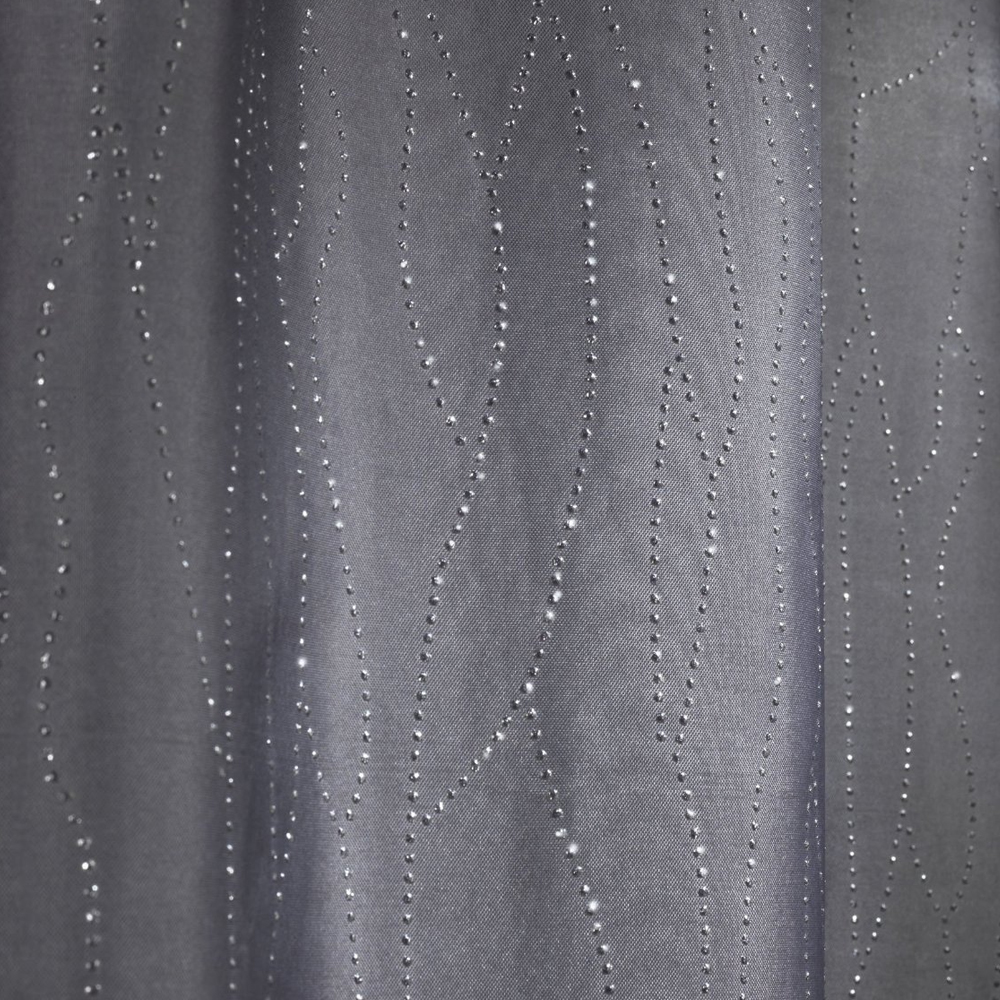 Wenko Deluxe Grey Polyester Shower Curtain - W 1800 x H2000mm Large Image