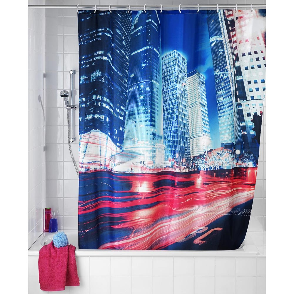 Wenko Downtown Polyester Shower Curtain - W1800 x H2000mm - 22189100 profile large image view 2