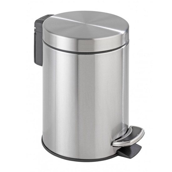 Wenko - Easy Close 3 Litre Pedal Bin - Stainless Steel - 18443100 Large Image