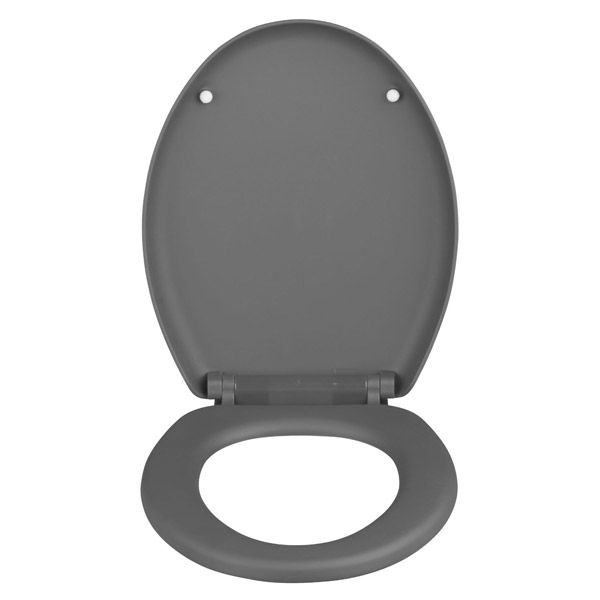 grey soft close toilet seat. Wenko Forano Thermoplastic Soft Touch Coating Close Toilet Seat  GreySoft Home Design Health support us A TOILET SEAT The Ideal Comfort