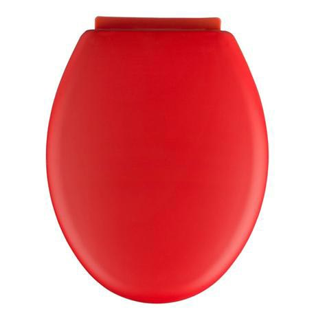 soft touch toilet seat. Wenko  Forano Thermoplastic Soft Touch Coating Close Toilet Seat Red