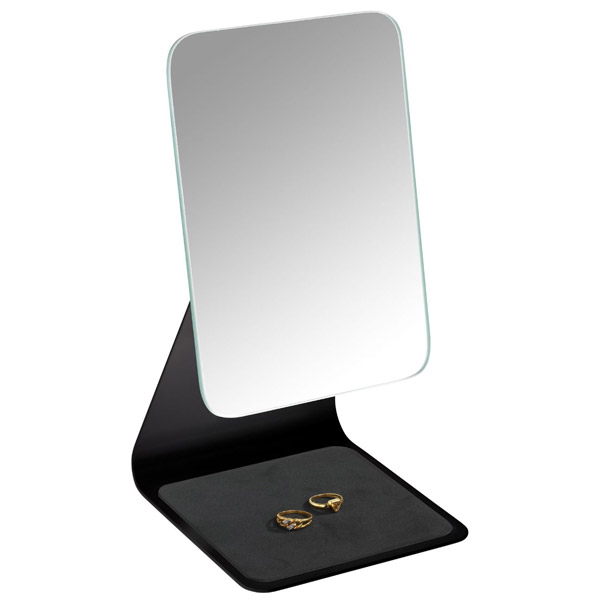 Wenko - Frisa Standing Cosmetic Mirror - Black - 20442100 Feature Large Image