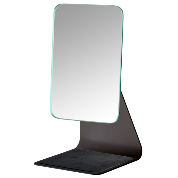 Wenko - Frisa Standing Cosmetic Mirror - Black - 20442100 Large Image