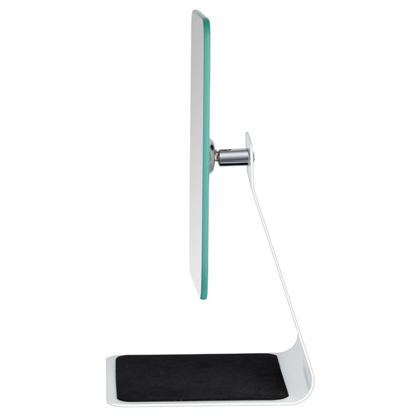 Wenko - Frisa Standing Cosmetic Mirror - White - 20441100 profile large image view 2