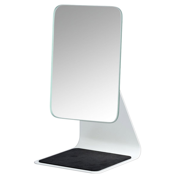 Wenko - Frisa Standing Cosmetic Mirror - White - 20441100 profile large image view 1