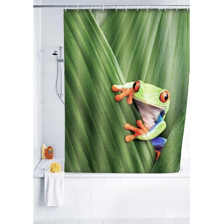 Wenko Frog Polyester Shower Curtain - W1800 x H2000mm - 20958100