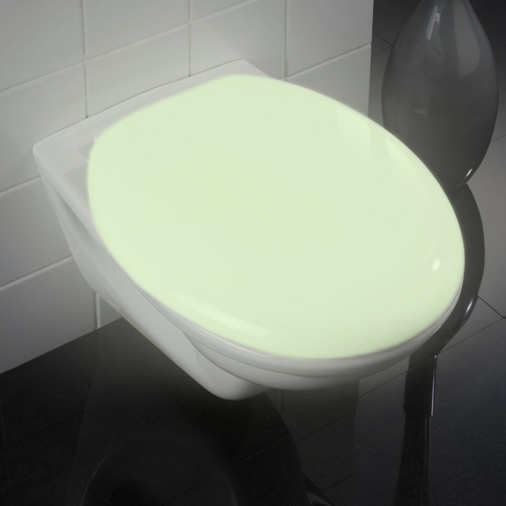 Wenko Glow In The Dark Soft-Close Toilet Seat - 21900100 profile large image view 1