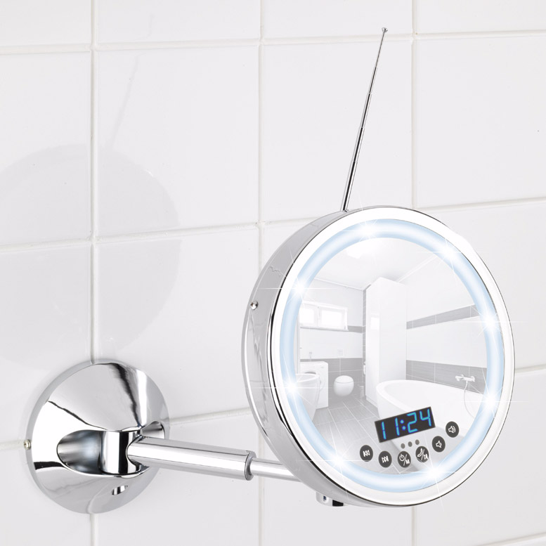 Wenko Imperial Bluetooth LED Wall Mounted Cosmetic Mirror with Radio - 21822100 | 8 Smart Ways To Upgrade Your Bathroom