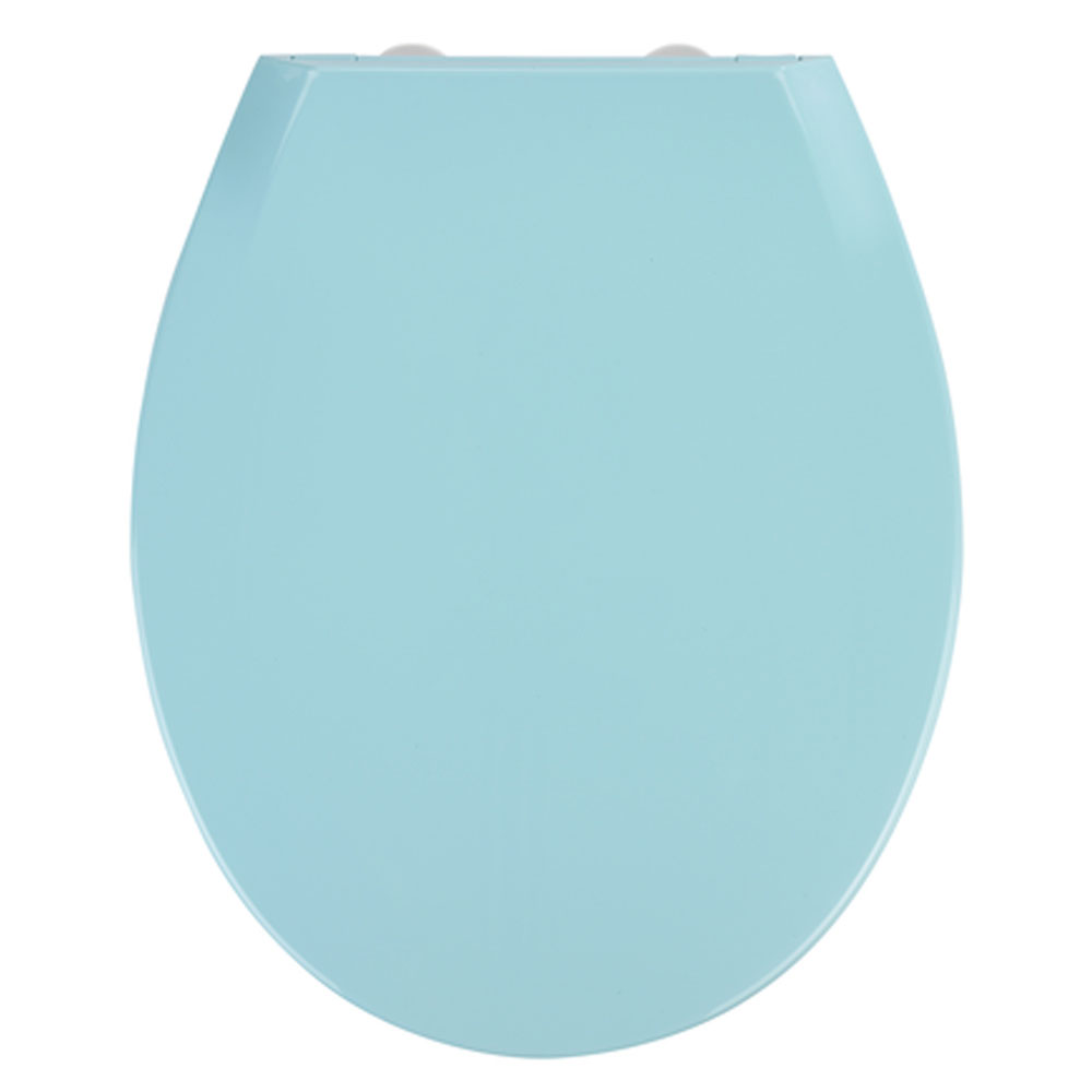 Wenko Kos Soft Close Toilet Seat - Blue Large Image