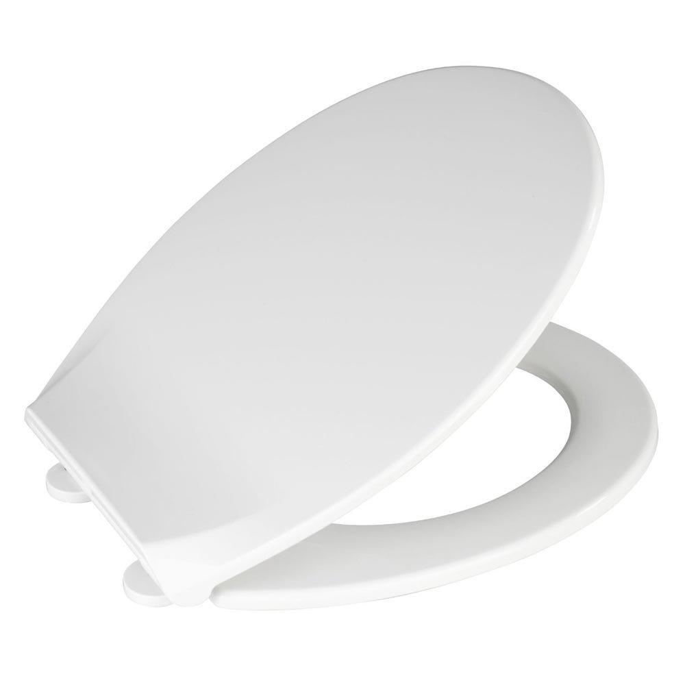 Wenko Kos Soft Close Toilet Seat - White profile large image view 3